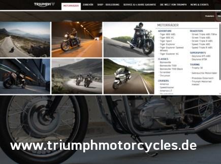 Triumph Webseite Deutschland