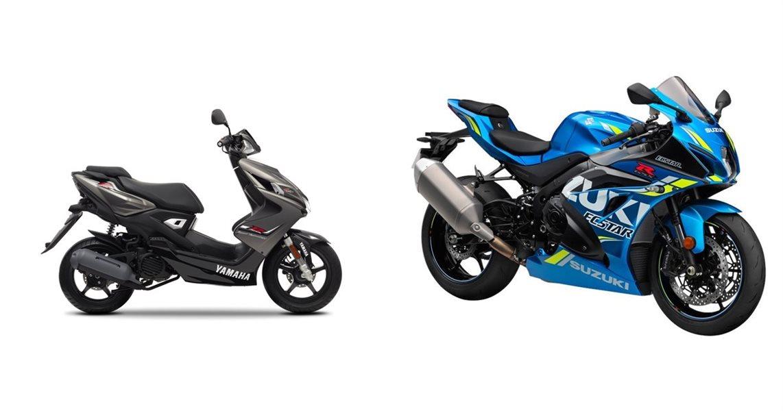 Motorrad Vergleich Yamaha Aerox R 2010 vs. Yamaha Aerox