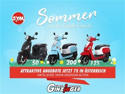 SYM Fiddle 3 mal in Aktion jetzt ab Euro 1.799.-