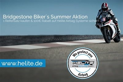 NEWS Helite Airbag / Bridgestone Aktion - 100 € sparen!