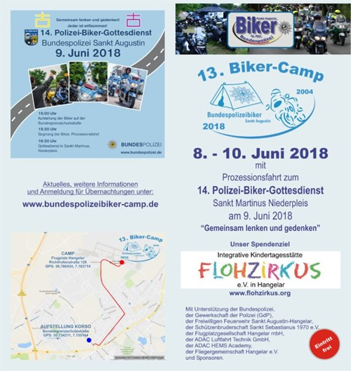 Tourentipp: Biker-Camp 2018 der Bundespolizei in Sankt Augustin