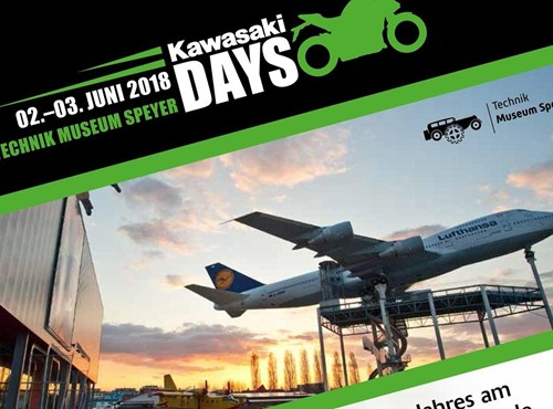 Kawasaki Days 2018 am 2.-3. Juni in Speyer