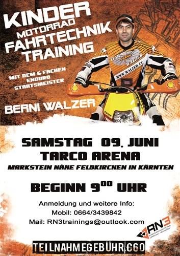 """RN3 """"Kids MX Fahrtechnik-Training"""" mit Berni Walzer RN3 """"Kids MX Fahrtechnik-Training"""" mit Berni Walzer TARCO ARENA in Markstein // Feldkirchen in Kär... Weiter >>"""