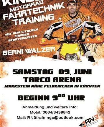 """RN3 """"Kids MX Fahrtechnik-Training"""" mit Berni Walzer RN3 """"Kids MX Fahrtechnik-Training"""" mit Berni Walzer TARCO ARENA in Markstein // Feldkirchen in Kärnten (PLZ: 9560) Samstag 09. J..."""