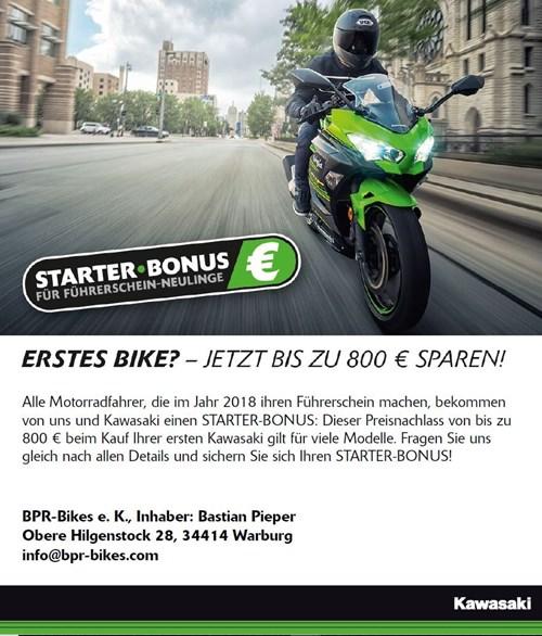 Bis zu 800€ sparen!!! Jetzt den Kawasaki Starterbonus sichern!