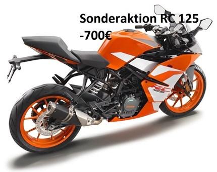 Sonderaktion Fast Track RC 125  KTM RC 125 durch die Sonderaktion Fast Track (-700,00€) jetzt für 3995,00€ (zzgl. Nebenkosten) !!... Weiter >>