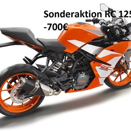 Sonderaktion Fast Track RC 125  KTM RC 125 durch die Sonderaktion Fast Track (-700,00€) jetzt für 3995,00€ (zzgl. Nebenkosten) !! Solange der Vorrat reicht.