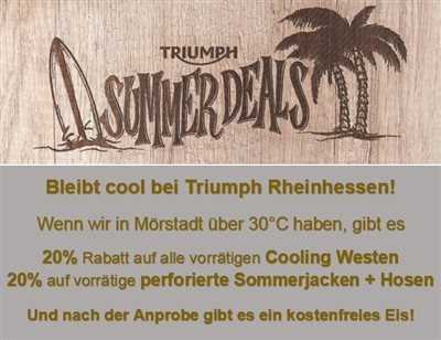 Heiß und Eis - Cool bleiben mit Triumph Rheinhessen