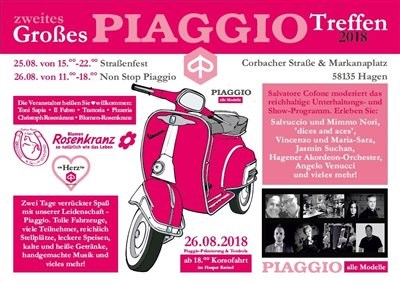 Straßenfest Piaggio-Vespa-Ape-Treffen