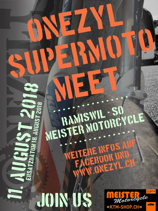 Meister Motorcycle AG-News: Onezyl Supermoto Meet