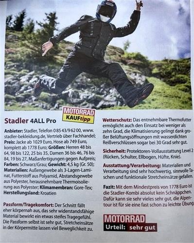 "Kauftipp Stadler ""4 All"" Anzug"