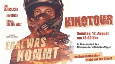 """Egal was kommt"" Kinofilm einer Motorradweltreise"