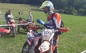 Detailansicht Christopher Vieghofer beim Extreme Enduro HEXE in Lunz am See