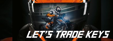 KTM Eintauschpämie  LET'S TRADE KEYS Bonus auf Bruttolisten-Neupreis beim Neukauf einer KTM 1290 SUPER DUKE R oder KT... Weiter >>
