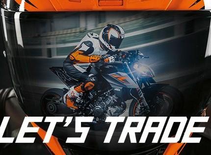 KTM Eintauschpämie  LET'S TRADE KEYS Bonus auf Bruttolisten-Neupreis beim Neukauf einer KTM 1290 SUPER DUKE R oder KTM 1290 SUPER ADVENTURE S i.H.v....