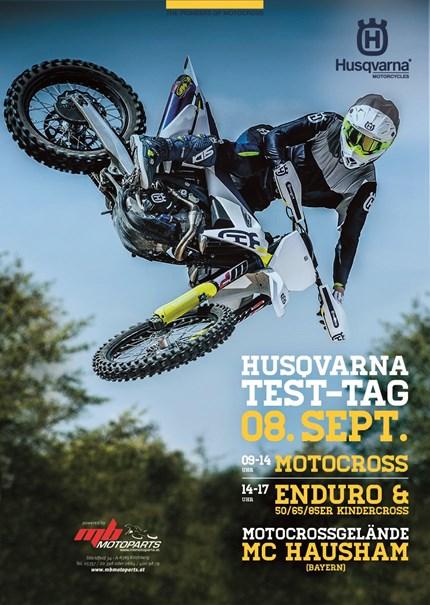>>>HUSQVARNA TESTTAG MX/ENDURO MY2109<<<  Unser alljährlicher HUSQVARNA - TESTTAG findet heuer in HAUSHAM-Bayern (nähe Schliersee) statt! ;) Die traditionsreiche Strecke... Weiter >>