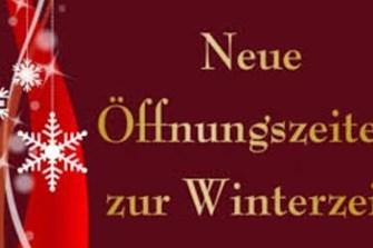 Bild zum Bericht: Winteröffnungszeiten von Oktober bis Ende Jänner!!