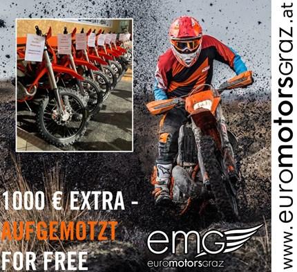 KTM EXC AKTION!  KTM EXC AUFMOTZEN: 1.000€ EXTRA Beim Kauf eines neuen KTM EXC-Modells, des Modelljahres 2019 gib... Weiter >>