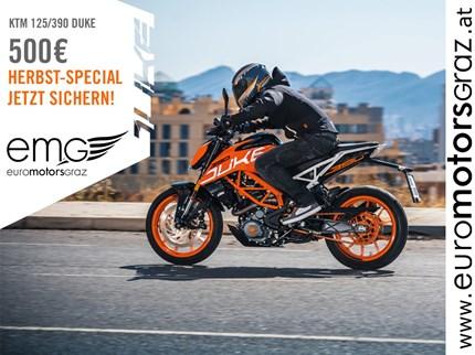 KTM DUKE AKTION  Jetzt  hast du die Gelegenheit dir beim Kauf deiner neuen KTM 125 DUKE oder  KTM 390 DUKE deinen ... Weiter >>