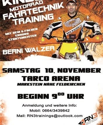 """RN3 """"Kids MX Fahrtechnik-Training"""" mit Berni Walzer RN3 """"Kids MX Fahrtechnik-Training"""" mit Berni Walzer TARCO ARENA in Markstein // Feldkirchen in Kärnten (PLZ: 9560) Samstag 10. N... Weiter >>"""