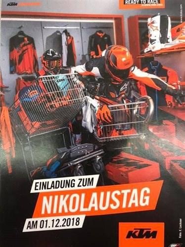 01.12.2018 KTM NIKOLAUSTAG Nicht verpassen!Am 01.12.2018 ist 🍊KTM Nikolaus Tag 🍊Neben tollen Angeboten, ist für Speis und Tr... Weiter >>