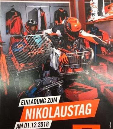 01.12.2018 KTM NIKOLAUSTAG Nicht verpassen!Am 01.12.2018 ist KTM Nikolaus Tag Neben tollen Angeboten, ist für Speis und Tr... Weiter >>