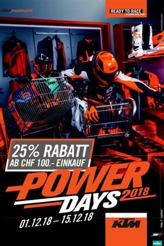 Chlaushöck und KTM Power Day, 8. Dezember von 17.00 bis 21.00 Uhr  Unser Winter-Highlight! Wir laden unsere Kunden alljährlich zum KTM Chlaus, bzw. Powerday und zum... Weiter >>