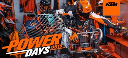 KTM POWERDAYS 2018  Es ist wieder soweit, die KTM PowerDays stehen vor der Tür. Im Zeitraum vom 1.12 – 24.12.18 warten wieder viele tolle Artikel au... Weiter >>
