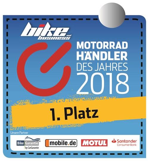 """NEWS Wir sind """"Motorradhändler des Jahres"""" 2018!"""