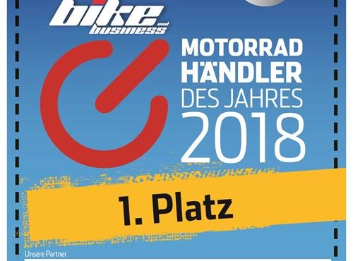 """Wir sind """"Motorradhändler des Jahres"""" 2018!"""