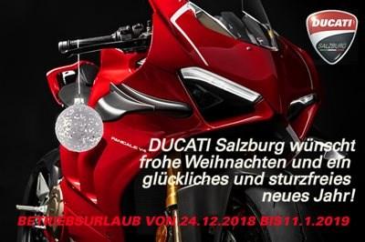 Weihnachten / Betriebsurlaub bei DUCATISALZBURG