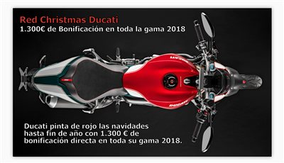 Red Christmas Ducati
