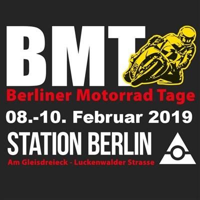 """Berliner Motorrad Tage 2019 Vom 08.-10.02.2018 finden die Berliner Motorrad Tage wieder in der """"Station Berlin"""" Am Gleisdreieck... Weiter >>"""