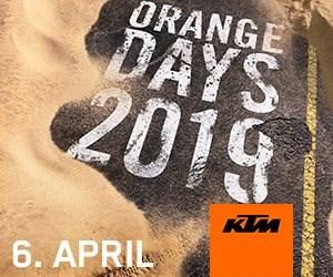 KTM und HUSQVARNA PROBEFAHREN am 06.04.2019...  ....KTM Orange Day - SA 06.04.2019 Geöffnet von 09:00 - 16:00 Uhr!! Probefahren mit den neuen KTM und Huqvarna Modellen 2019 ... Weiter >>