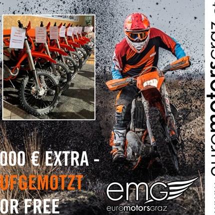 KTM EXC AUFMOTZEN: 1.000€ EXTRA  KTM EXC AUFMOTZEN: 1.000€ EXTRA  Beim Kauf eines neuen KTM EXC-Modells, des Modelljahres 2019 gi... Weiter >>