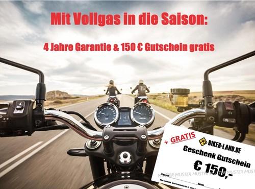 NEWS Garantie-Verlängerung & 150€ Bekleidung GRATIS !
