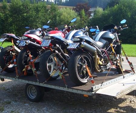 Motorradanhänger für deinen Urlaub jetzt reservieren!!!Mietanhänger für 4 Bikes / Quads