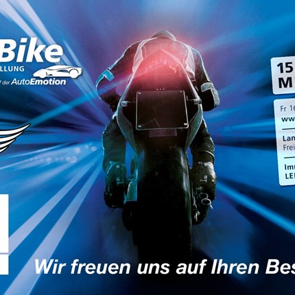MotorBike - Autoemotion  EMG @ Motorbike 2019 Auch heuer präsentieren wir unsere neuen BMW Motorradmodelle im ersten Stoc... Weiter >>