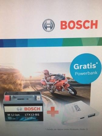 Gratis Powerbank bei kauf einer Bosch M Li-ion Batterie