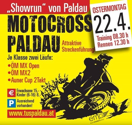 Motocross Paldau  40. Internationales Motocross Paldau   Auch heuer findet wieder am Ostermontag das traditionell... Weiter >>