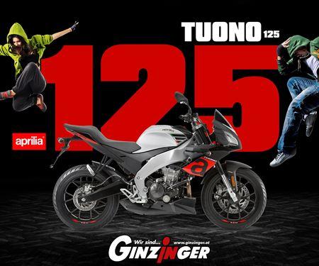 Ginzinger GmbH Zentrale Ried-News: Tuono 125 jetzt um nur € 3.999,-