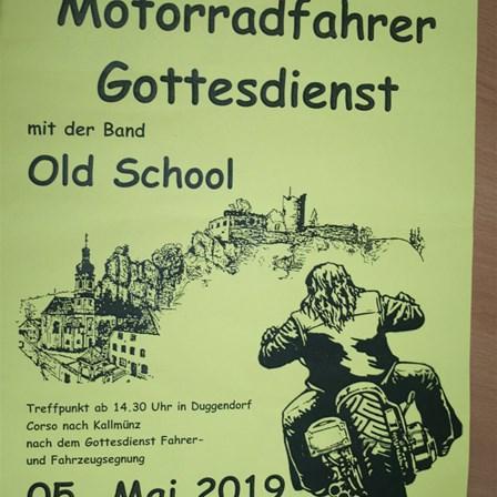 Motorradweihe in Kallmünz