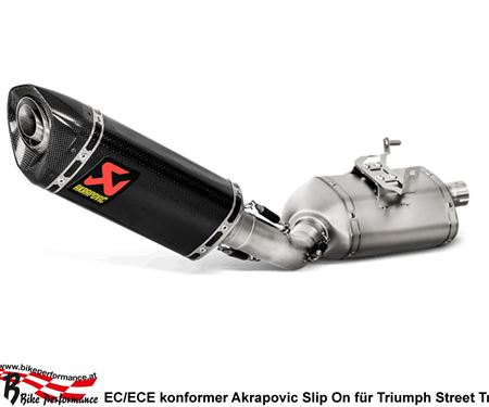 MB Bike Performance GmbH-News: Triumph Street Triple 765: Zwei Akrapovic Slip On Varianten erhältlich!