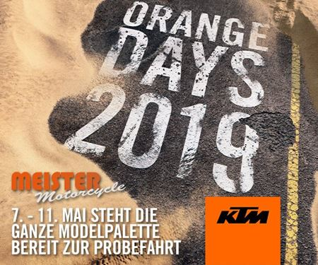 Meister Motorcycle AG-News: Orange Days