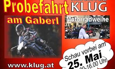 Probefahrt am Gaberl - Motorrad Klug