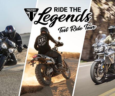 Viking Cycles GmbH Triumph World Lübeck-News: Ride the Legends Test Ride Tour