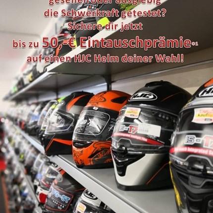 Du brauchst/ willst einen neuen Helm? JETZT Prämie sichern!  Jetzt zuschlagen undbis zu 50,-€ Eintauschprämie für deinen alten Helm erhalten!