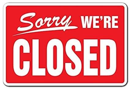 Wir haben geschlossen am Fr. 16.08. und Sa. 17.08.2019