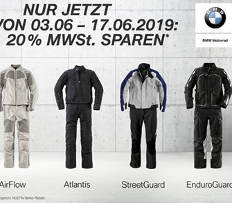 20% auf BMW-Motorrad Anzüge