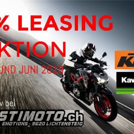 Leasing Aktion   Nur 3% statt 5.95% Leasingzins pro Jahr  Verwirkliche deinen Traum und lease dir dein neues Moto... Weiter >>